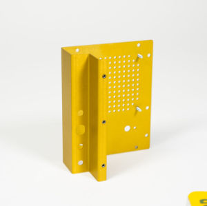 OEM Aluminum Stamping Cover, Yellow Anodized Finish, RoHS Compliant pictures & photos