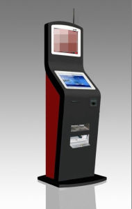 Dual Touch Screen/Muti-Meida Touch Kiosk with A4 Printer