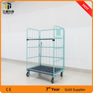Wire Foldable Rolling Cage with Wheels pictures & photos