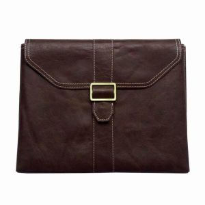 100% Genuine Leather Flap Pouch for iPad 2, 3, 4, Light Brown, Easy-to-Install and Remove (IG-IPA-GEN-LTHR-POCH-LGT-BWN)