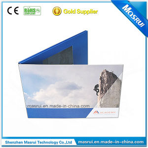 China Promotional Item Design Advertising Video Book With Card Craft