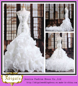 Luxurious Sweetheart Floor-Length Lace-up Back Crystals Beaded Mermaid Wedding Gown 2013 (TN1000)