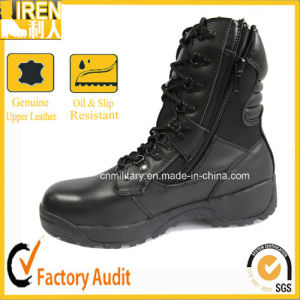 Black Police Tactical Safety Boots pictures & photos