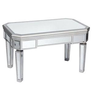 Custom White Modern Wood And Mirrored Coffee Table