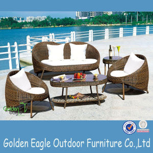 Rattan Furniture Outdoor Chairs with Arm and Cushion