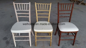 Wooden and Resin Chiavari Chair/Silla Tiffany Chair with Cushion pictures & photos
