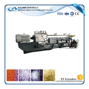 Zte Plastic Pellets Twin Screw Extruder Compound Granulator