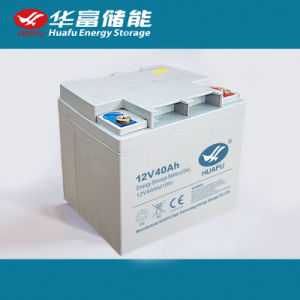 12V40ah Solar Storage Battery Huafu Battery pictures & photos