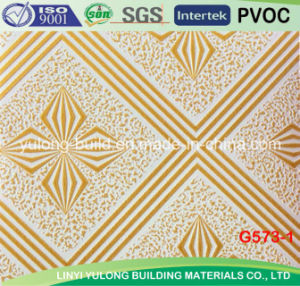 New Designs PVC Laminated Gypsum Ceiling Tiles pictures & photos