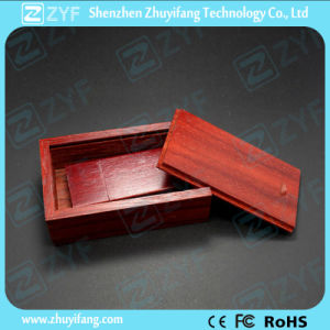 Wooden Box Rectangular Mahogany Wood USB Pen Drive (ZYF1347)