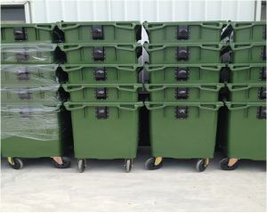 Big Size Four Wheels Plastic Waste Container (660L) pictures & photos