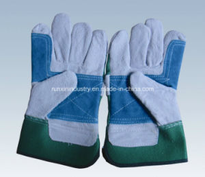 Cow Split Leather Working Gloves 1113 pictures & photos