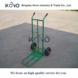Foldable Pneumatic Tyre Hand Trolley pictures & photos