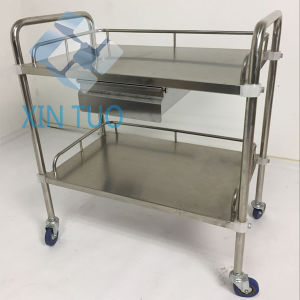 Factory Direct Price Stainless Steel Instrument Trolley with 3 Shelves pictures & photos