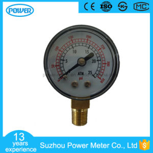 40mm Bottom Type Black Steel Bourdon Tube Pressure Gauge pictures & photos