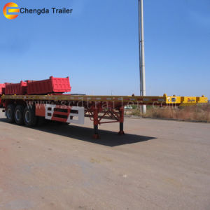 New and Used 3 Axle 40FT Flatbed Trailer for Container Transport pictures & photos