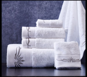 Top Brand Cotton White Bath Towel Star Hotel Towels (DPF10768) pictures & photos