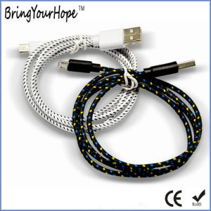 Black Braid Nylon USB Cable for iPhone pictures & photos