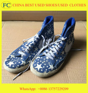 Cheap Boy, Lady, Child Used Second-Hand Stock Shoes (FCD-005)