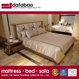 High Quality Bedroom Furniture Solid Wood Bed Ch 602