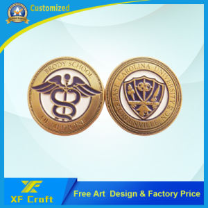 OEM Factory Price Customized Gold Plated Soft Enamel Challenge Coins for Souvenir (XF-CO25) pictures & photos