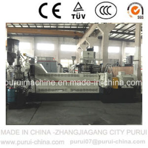 Two-Stage Plastic Extruder Pelletizer with Side Force Feeder for Mulching Film pictures & photos