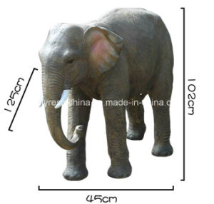 Life Size Fiber Glass Elephant of Garden Decor Statue pictures & photos