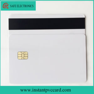 White Magnetic Stripe Card with Sle4442 Chip pictures & photos