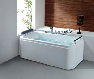 Deluxe Freestanding Sanitary Ware Acrylic Massage/SPA Bathtub