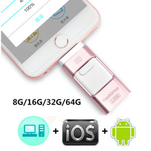 3 in 1 USB Flash Sticks 32G 64G 3.0 Dual Memory Drive for iPhone iPad Android PC