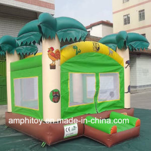 Happy Maple Leaf Fun Bouncer Inflatable Commercial Bouncer