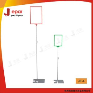 Market Floor Poster Stand with A3 A4 Plastic Frame Two Different Heights