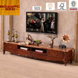 Walnut Solid Wood Luxury TV Stand / TV Cabinet (GSP13 008)