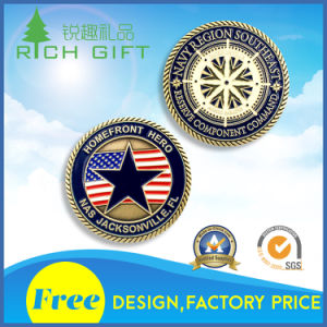 China Manufacturer Maker Custom Metal/Antique/Souvenir/Gold/Military/Silver Police Challenge Coin with Logo No Minimum pictures & photos
