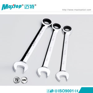 Mirror Polished 18mm Chrome Vanadium Ratchet Wrench pictures & photos