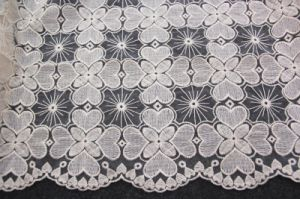 Organza Baric and Cotton Thread Embroidery Lace