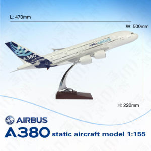 47cm Handmade Aircraft Model Scale 1 155 Plane Mode 380 Airplane Model Kits With Wooden Base