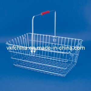 20 Liter Chrome Wire Shopping Basket