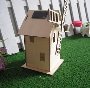 Wooden Solar Power Windmill Kit For Science Learning