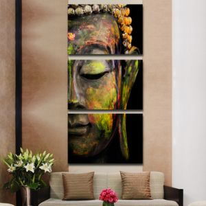 Canvas Art Printed Buddha Portrait Art Painting Canvas Print Room Decor Print Poster Picture Canvas Mc-020 pictures & photos