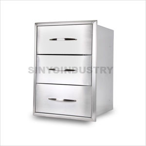 China Stainless Steel Kitchen Drawer 3 Cabinet Sc