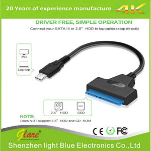 Length: 20cm 15 Pin + 7 Pin HDD Data Converter Cable USB-C//Type-C 3.1 Male to SATA