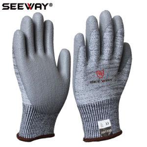 China En388 Level 5 Anti Cut Pu Glove China Anti Cut