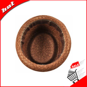 Colored Wheat Straw Hat Fedora Hat pictures & photos