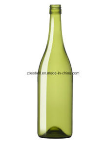 French Green Bvs Burgundy Glass Wine Bottle 0.75L pictures & photos