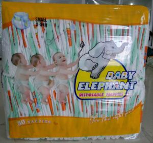 Baby Diaper with Cotton Backsheet
