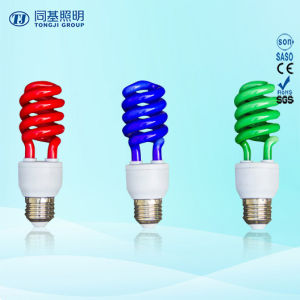 Manufacturer Colorful Half Spiral Incandescent Bulb pictures & photos