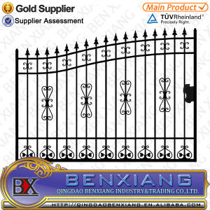 Black Power Coating Square Steel Pipes Gates pictures & photos