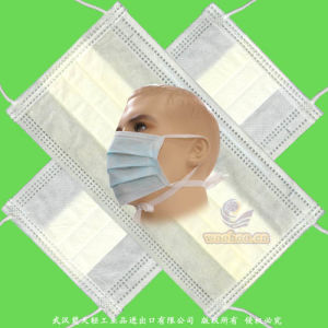 Protective/Safety/Medical/Hospital/Non-Woven 4-Ply Active Carbon/Dust/Paper/Earloop/SMS/PP 3-Ply Disposable Surgical Face Mask with Elastic Earloops & Tie-on pictures & photos