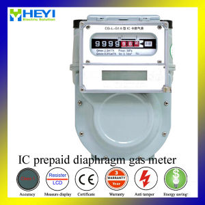 IC Card Household Prepaid Diaphragm Gas Meter1.6A pictures & photos